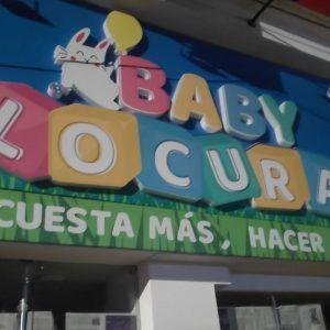 Aviso en Ibague Baby Locura